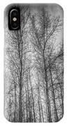Monochrome Sunset Trees IPhone Case