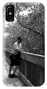 Monochrome Weedon Island Boardwalk  IPhone Case