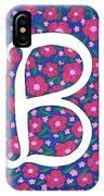 Monogram B IPhone X Case