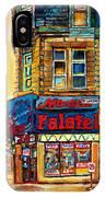 Monsieur Falafel IPhone Case