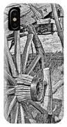 Montana Old Wagon Wheels Monochrome IPhone Case
