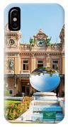 Monte Carlo Casino And Sky Mirror In Monaco IPhone Case