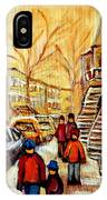 Montreal City Scene In Winter IPhone Case