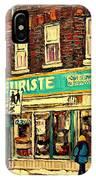 Montreal Cityscenes By Streetscene Artist Carole Spandau IPhone Case