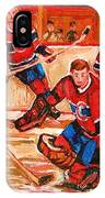 Montreal Forum Hockey Game IPhone Case
