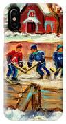 Montreal Hockey Rinks Urban Scene IPhone Case