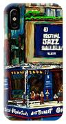 Montreal Jazz Festival Arcade IPhone Case