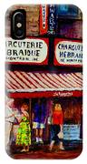 Montreal Paintings  Available For Fundraisers By Streetscene  Artist Carole Spandau  IPhone Case