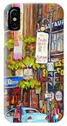 Montreal St.catherine Street Corner Peel IPhone Case