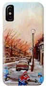 Montreal Street Hockey Game IPhone Case