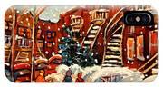 Montreal Street In Winter IPhone Case