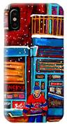 Montreal Wilensky Deli By Carole Spandau Montreal Streetscene And Hockey Artist IPhone Case