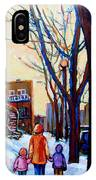 Montreal Winter IPhone Case