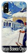 Montreux, Berner Oberland Railway, Switzerland, Winter, Ski, Sport IPhone Case