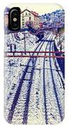 Montreux, Tracks In The City. IPhone Case