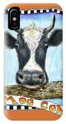 Moo Cow In Orange IPhone Case