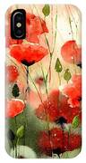 Moody Poppies In The Afternoon IPhone Case