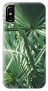 Moody Tropical Leaves IPhone Case