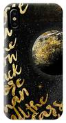 Moon And Back Stars Night IPhone Case