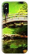 Moon Bridge At Huntington IPhone Case