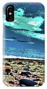 Moon Lit Beach, Bray, Wicklow, Ireland, Poster Effect1b IPhone Case