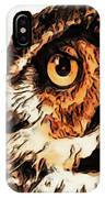 Moon Owl IPhone Case