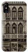 Moorish Style Windows Venice Monotone_dsc1450_02282017 IPhone Case