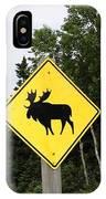 Moose Crossing IPhone Case