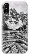 Moraine Lake Driftwood No 1 IPhone Case