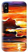 Morning After The Storm - Palette Knife Oil Painting On Canvas By Leonid Afremov IPhone Case