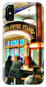 Morning Call Coffee Stand IPhone Case