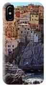 Morning In Manarola Cinque Terre Italy IPhone Case