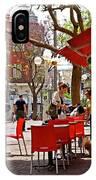 Morning On A Street In Tel Aviv IPhone Case