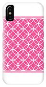 Moroccan Endless Circles I With Border In French Pink IPhone Case