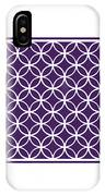 Moroccan Endless Circles I With Border In Purple IPhone Case