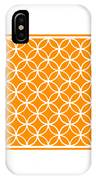 Moroccan Endless Circles I With Border In Tangerine IPhone Case