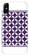 Moroccan Endless Circles II With Border In Purple IPhone Case