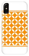 Moroccan Endless Circles II With Border In Tangerine IPhone Case