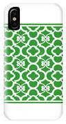 Moroccan Floral Inspired With Border In Dublin Green IPhone Case