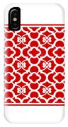 Moroccan Floral Inspired With Border In Red IPhone Case