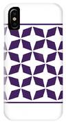 Moroccan Inlay With Border In Purple IPhone Case