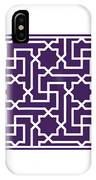 Moroccan Key With Border In Purple IPhone Case