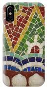 Mosaic Fountain Pattern Detail 4 IPhone Case