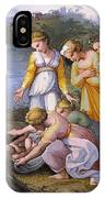 Moses Saved From The Waters Raffaello Sanzio Da Urbino Raphael Raffaello Santi IPhone Case