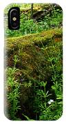 Moss Covered Log 2 IPhone Case