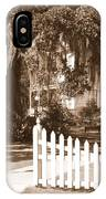 Mossy Live Oak And Picket Fence IPhone Case