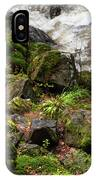 Mossy Rocks And Water Stream IPhone Case
