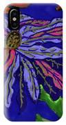 Most Unusual Poinsettia In A Midnight Blue Sky IPhone Case