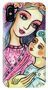 Mother And Child In Blue IPhone Case