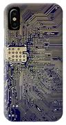 Motherboard Architecture Blue IPhone Case